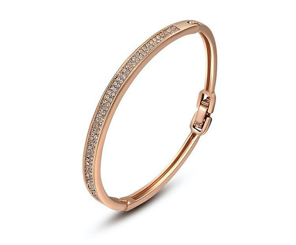 18K Rose Gold Plated Isabella Bracelet with Simulated Diamond