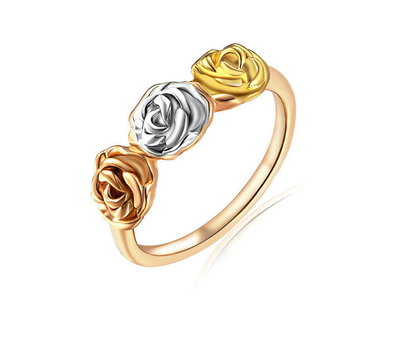 18K Rose Gold Plated Jacqueline Ring with Simulated Diamond