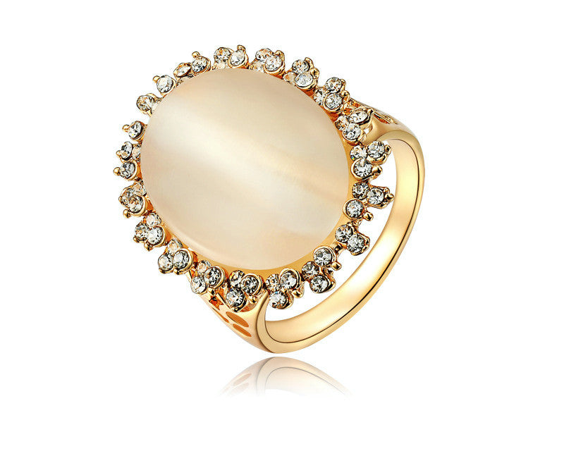 18K Rose Gold Plated Jayleen Ring with Simulated Diamond