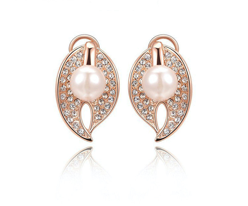 18K Rose Gold Plated Jazlyn Earrings with Simulated Diamond