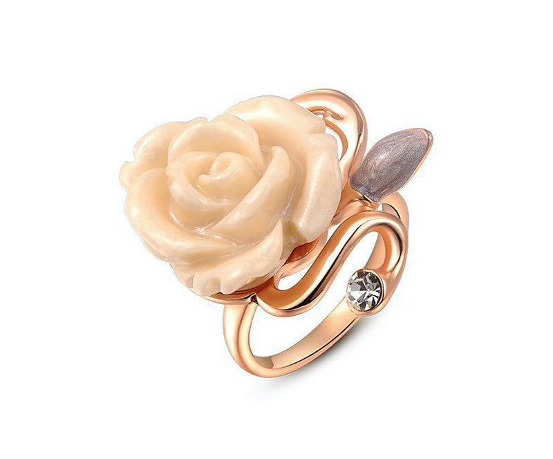 18K Rose Gold Plated Jenna Ring with Simulated Diamond