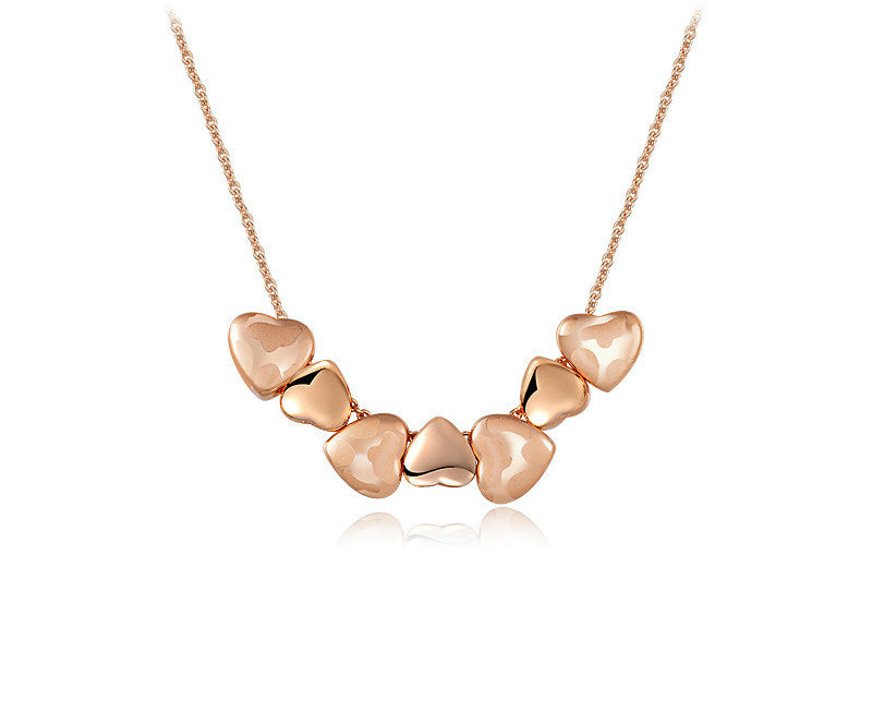 18K Rose Gold Plated Jessica Necklace with Simulated Diamond