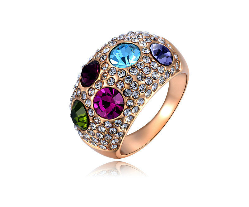 18K Rose Gold Plated Johanna Ring with Simulated Diamond