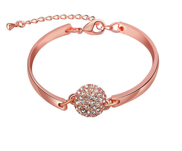 18K Rose Gold Plated Jordyn Bracelet with Simulated Diamond