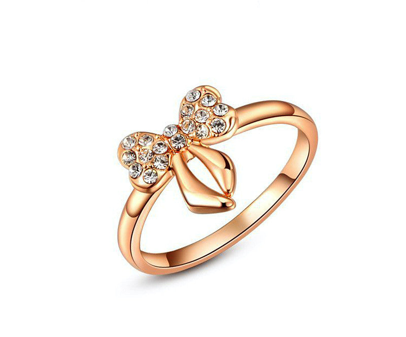 18K Rose Gold Plated Journee Ring with Simulated Diamond
