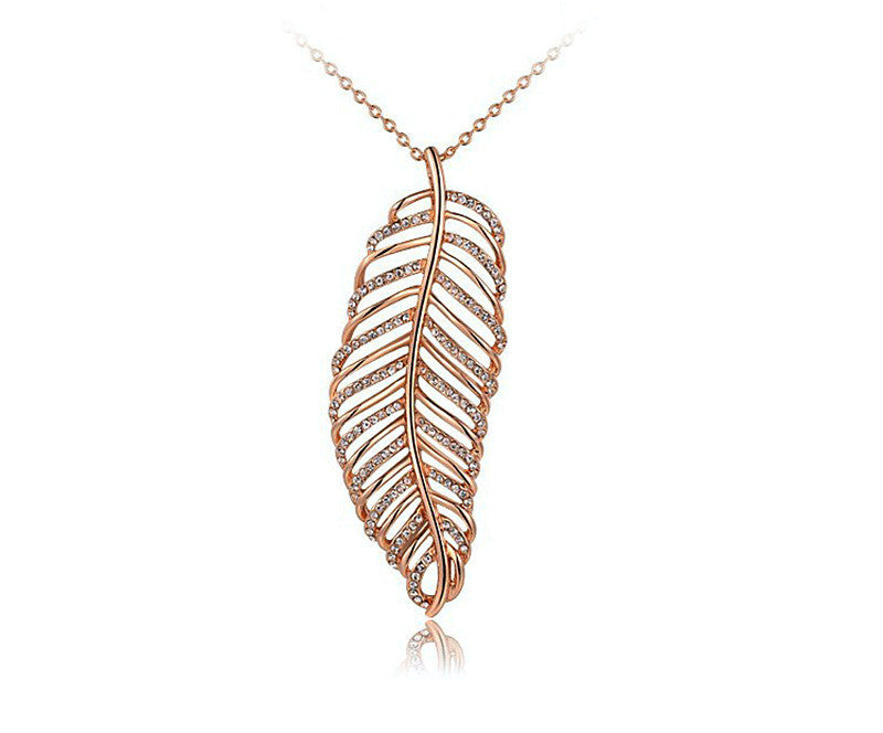 18K Rose Gold Plated Journey Necklace with Simulated Diamond