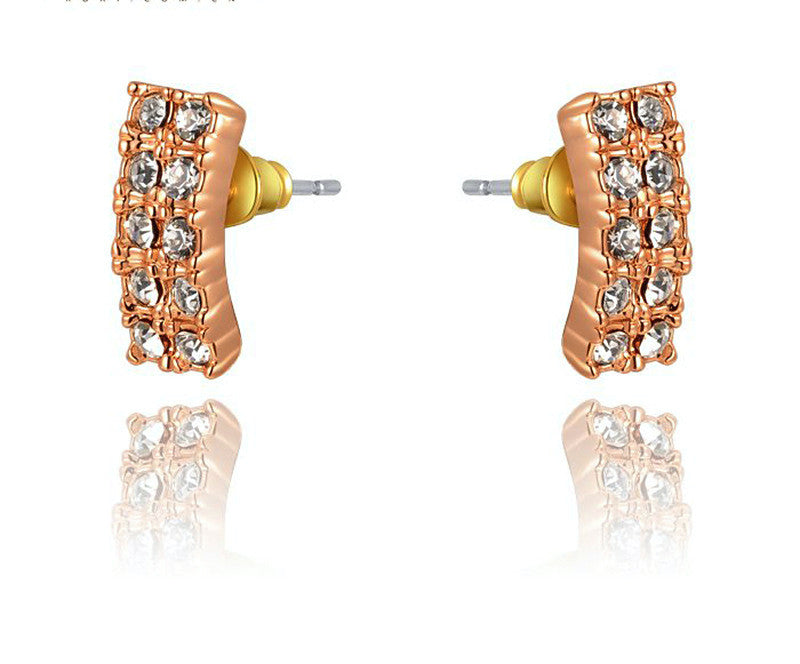 18K Rose Gold Plated Julianna Earrings with Simulated Diamond