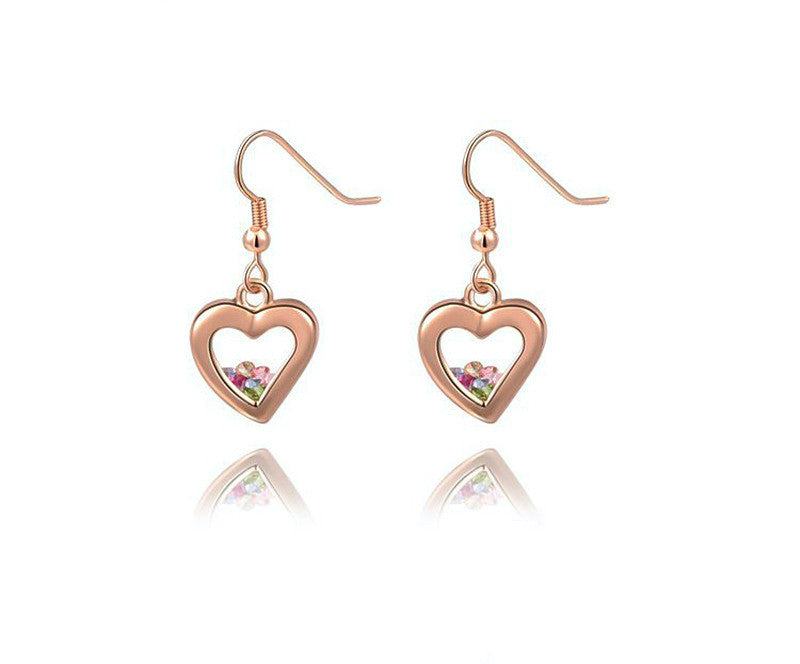 18K Rose Gold Plated Kaelyn Earrings with Simulated Diamond