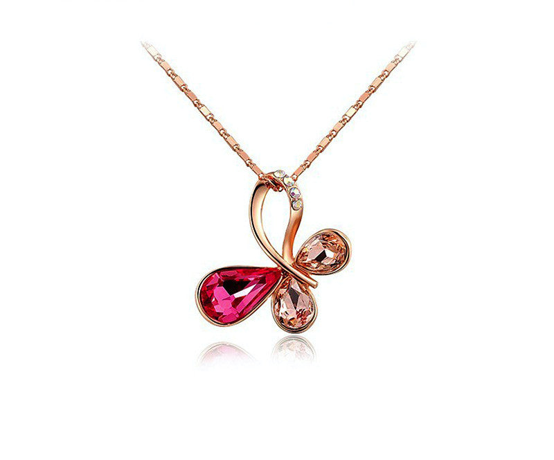 18K Rose Gold Plated Kaitlyn Necklace with Simulated Diamond