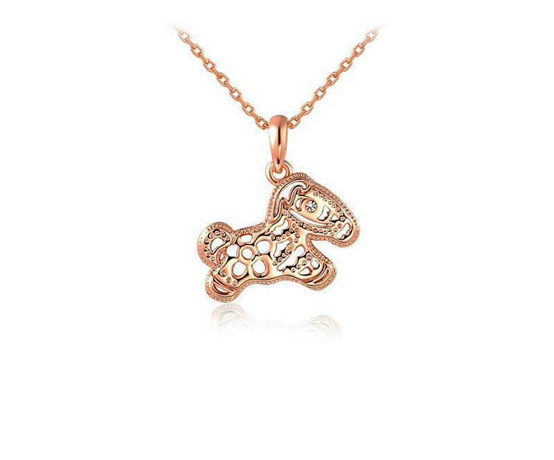 18K Rose Gold Plated Kate Necklace with Simulated Diamond