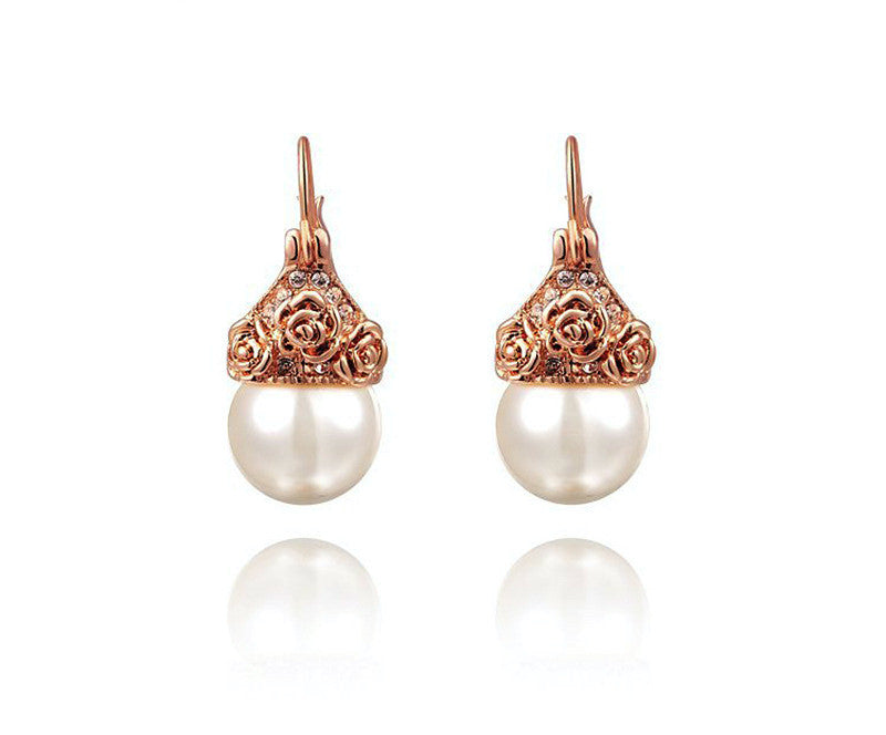 18K Rose Gold Plated Khloe Earrings with Simulated Diamond