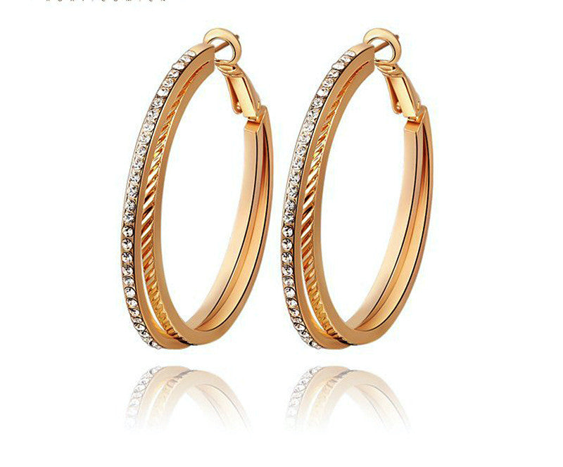 18K Rose Gold Plated Kimberly Earrings with Simulated Diamond