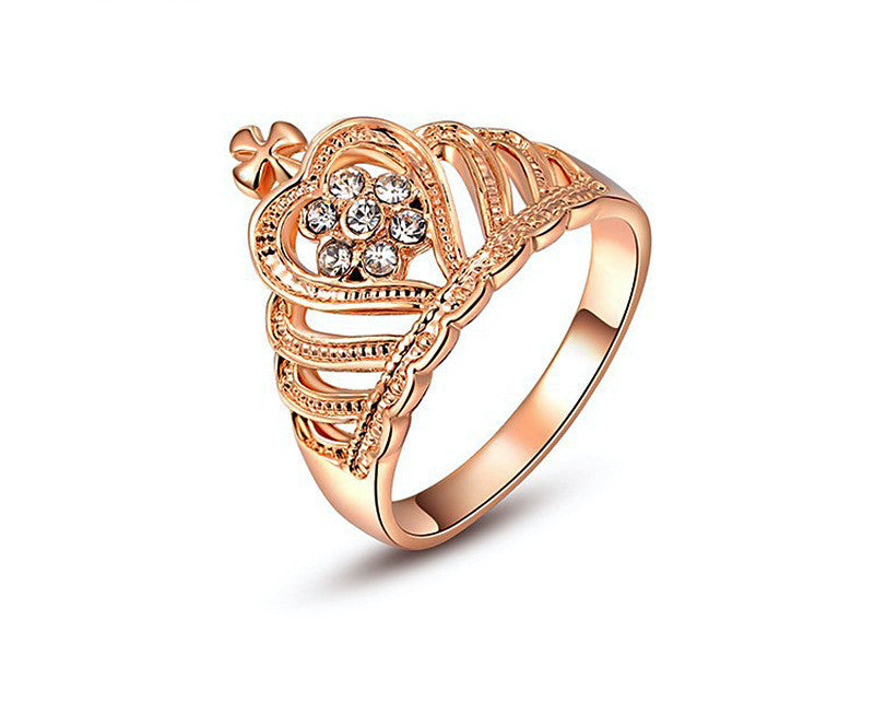 18K Rose Gold Plated Kyleigh Ring with Simulated Diamond