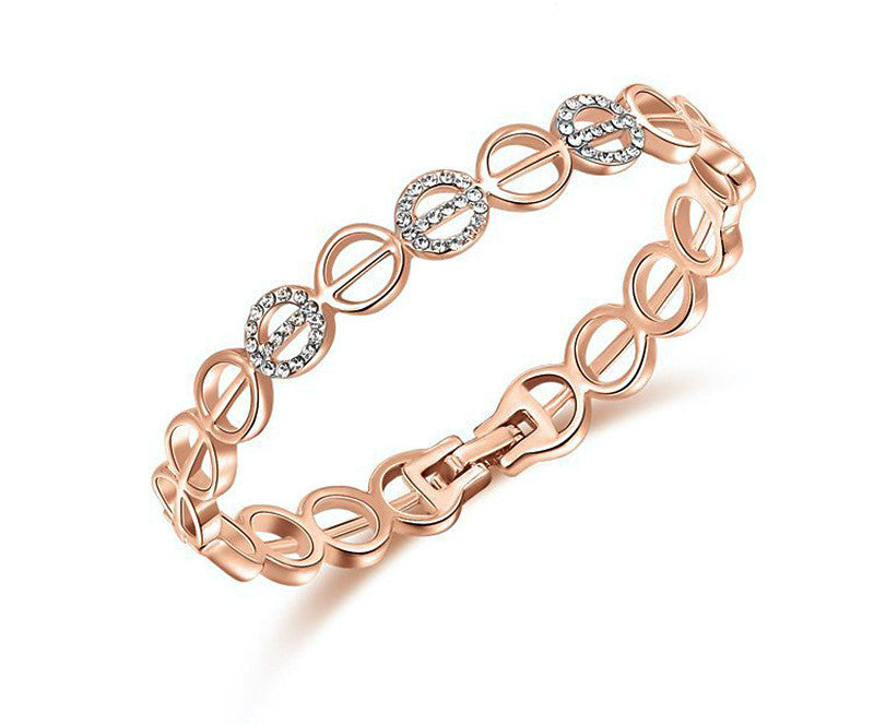 18K Rose Gold Plated Lillian Bracelet with Simulated Diamond