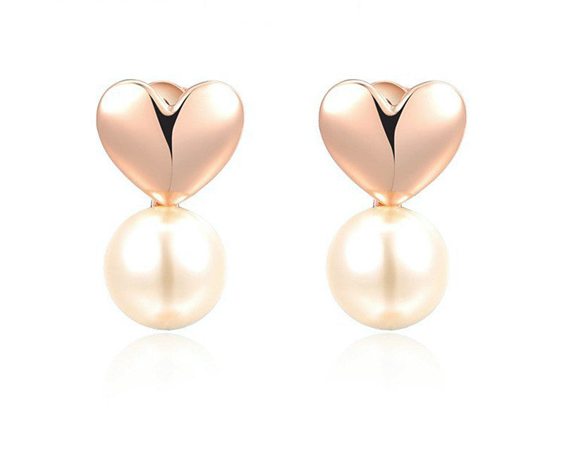 18K Rose Gold Plated Lydia Earrings with Simulated Diamond