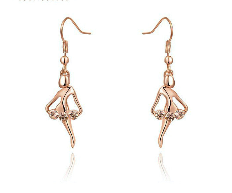 18K Rose Gold Plated Lyla Earrings with Simulated Diamond