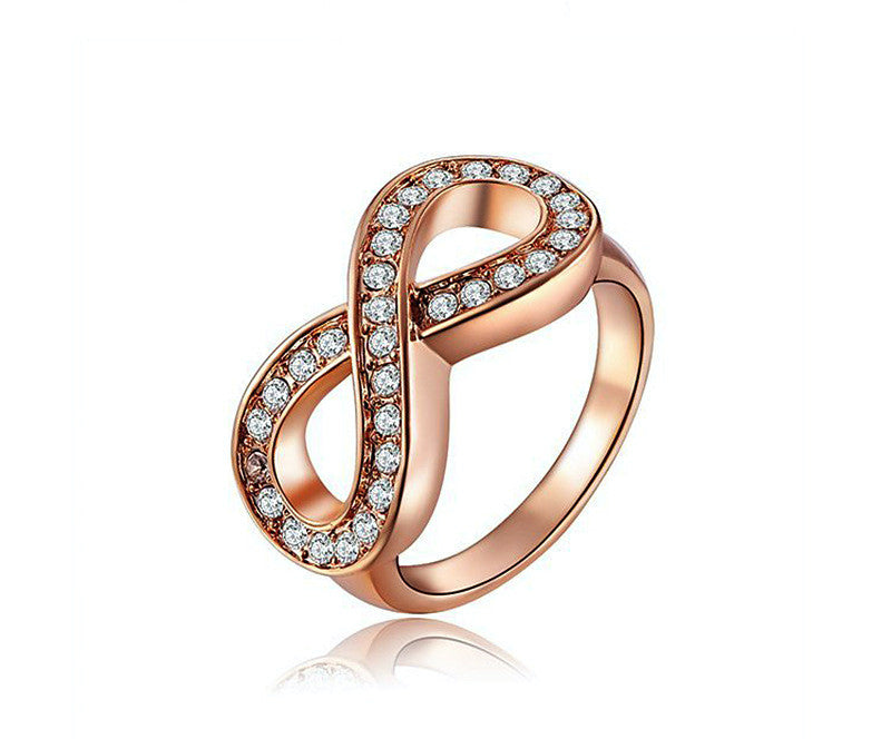 18K Rose Gold Plated Macie Ring with Simulated Diamond