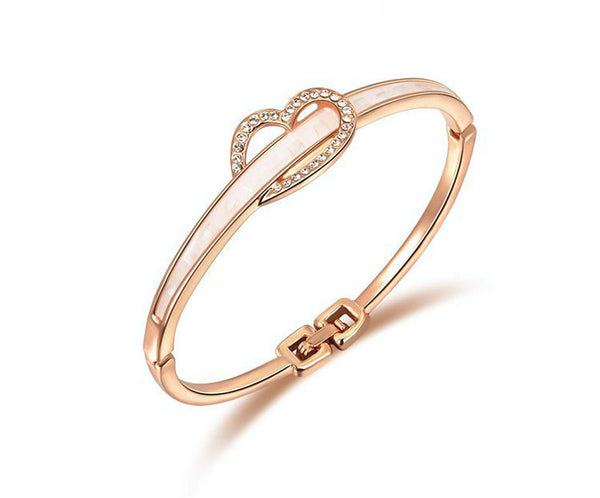 18K Rose Gold Plated Madeline Bracelet with Simulated Diamond