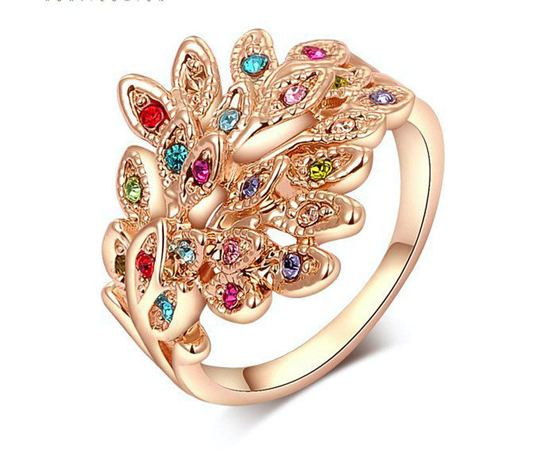 18K Rose Gold Plated Madison Ring with Simulated Diamond