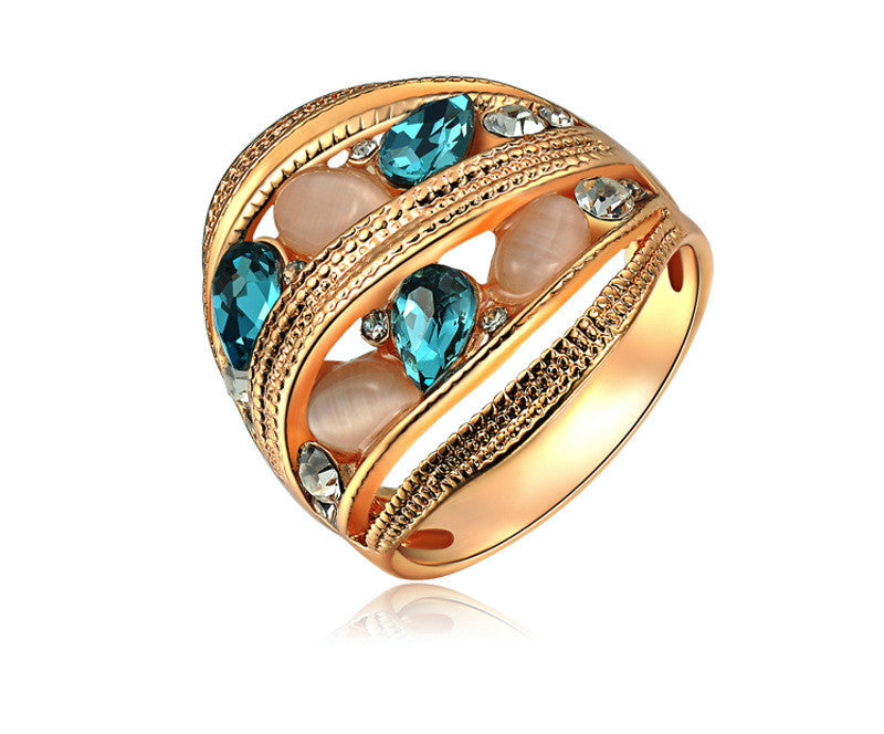 18K Rose Gold Plated Maliyah Ring with Simulated Diamond