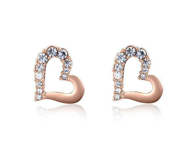 18K Rose Gold Plated Mckenna Earrings with Simulated Diamond