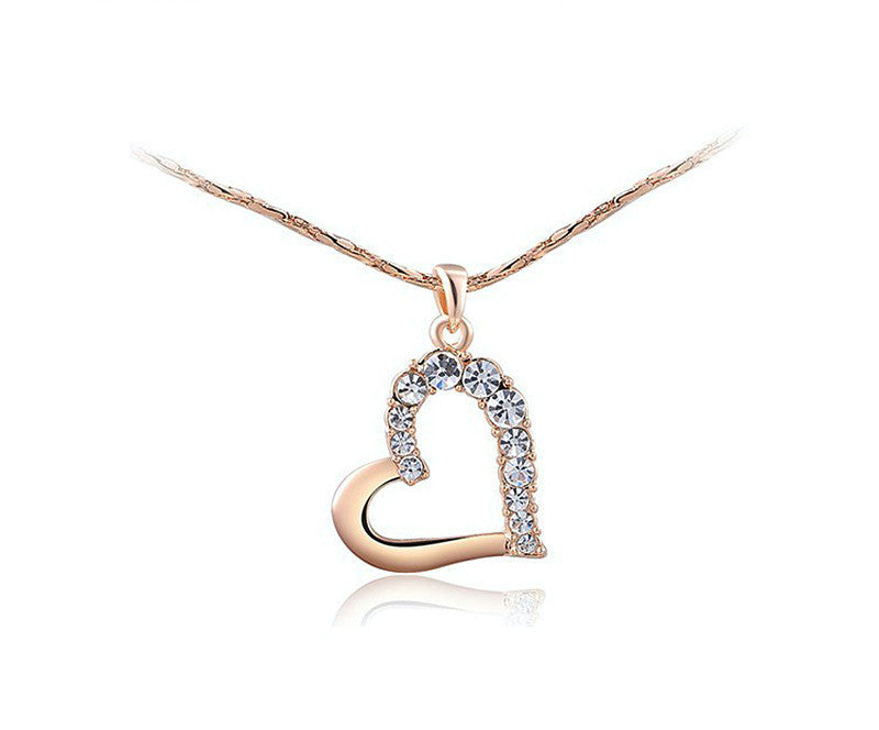 18K Rose Gold Plated Mila Necklace with Simulated Diamond