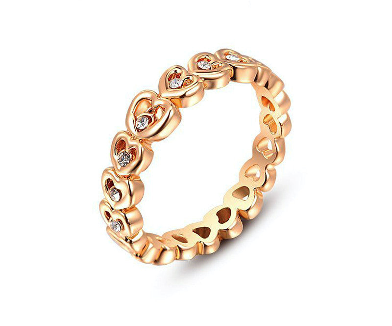 18K Rose Gold Plated Mila Ring with Simulated Diamond