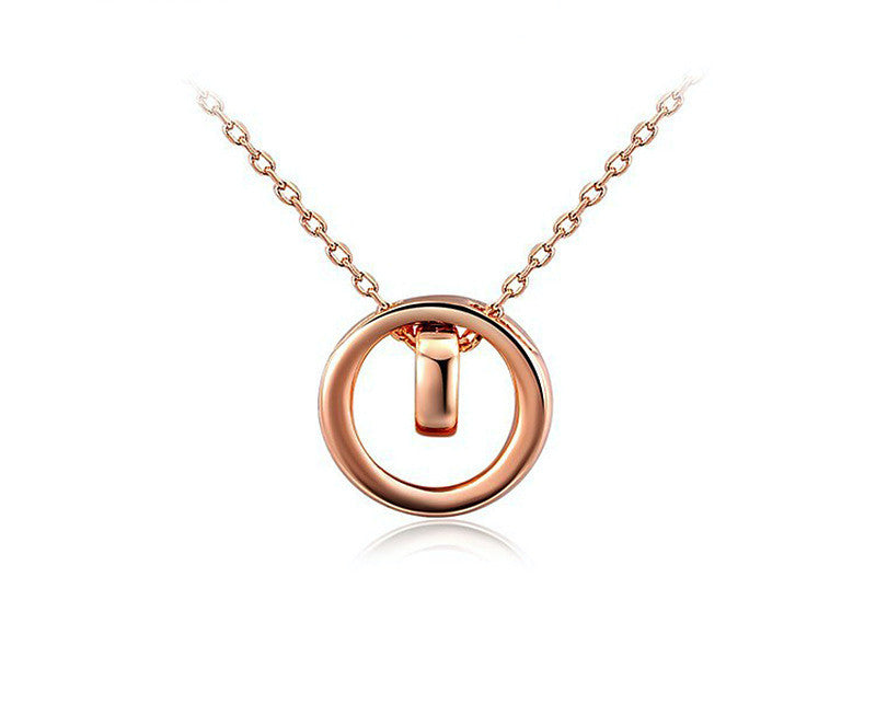 18K Rose Gold Plated Myla Necklace with Simulated Diamond