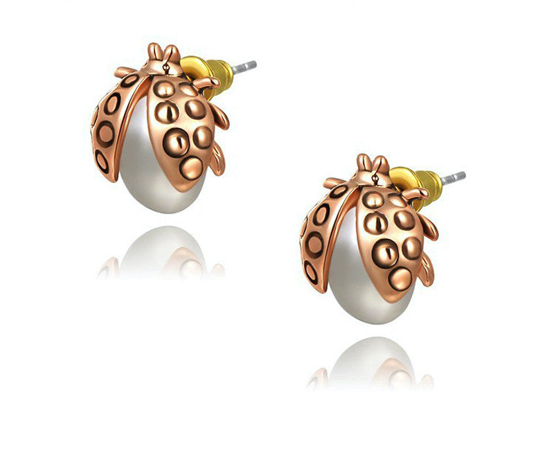 18K Rose Gold Plated Naomi Earrings with Simulated Diamond
