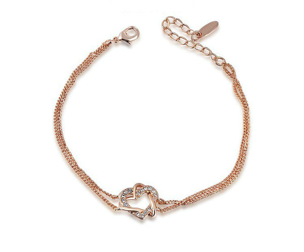 18K Rose Gold Plated Natalie Bracelet with Simulated Diamond