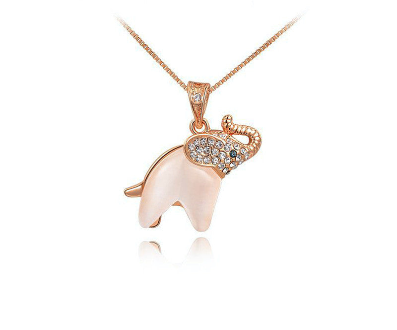 18K Rose Gold Plated Natalie Necklace with Simulated Diamond