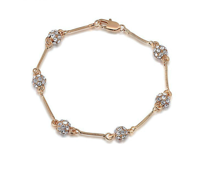 18K Rose Gold Plated Nora Bracelet with Simulated Diamond