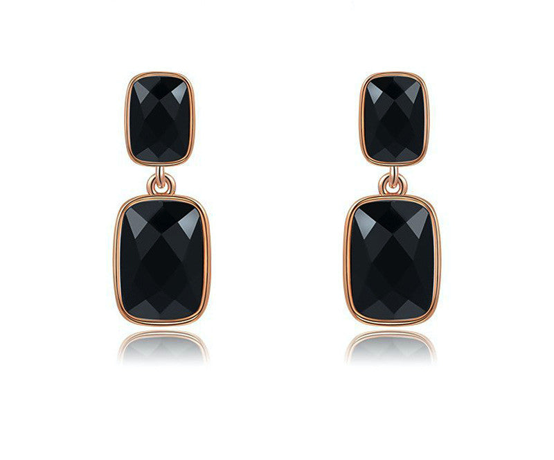 18K Rose Gold Plated Norah Earrings with Simulated Diamond