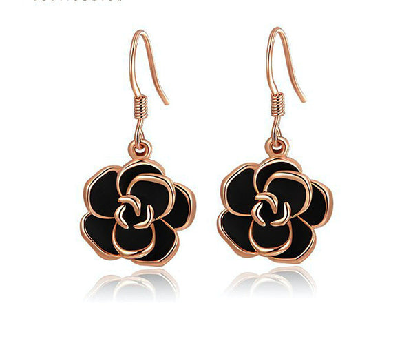 18K Rose Gold Plated Olivia Earrings with Simulated Diamond