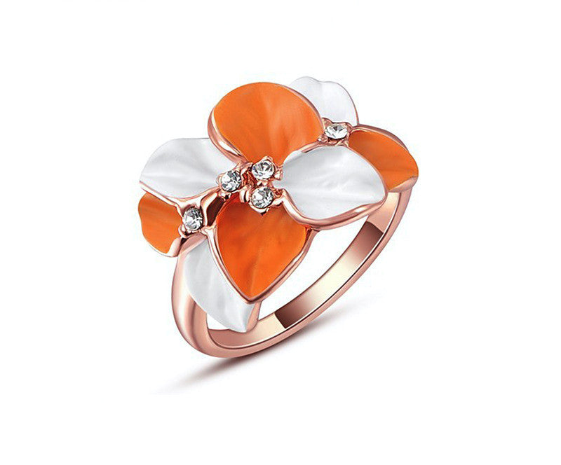 18K Rose Gold Plated Payton Ring with Simulated Diamond
