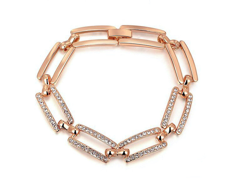 18K Rose Gold Plated Penelope Bracelet with Simulated Diamond
