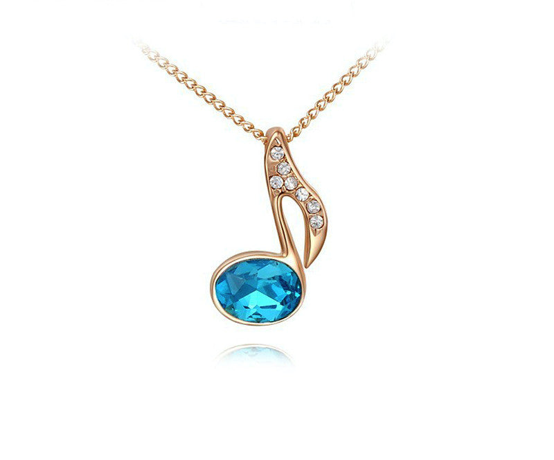 18K Rose Gold Plated Reagan Necklace with Simulated Diamond