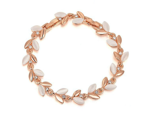 18K Rose Gold Plated Riley Bracelet with Simulated Diamond