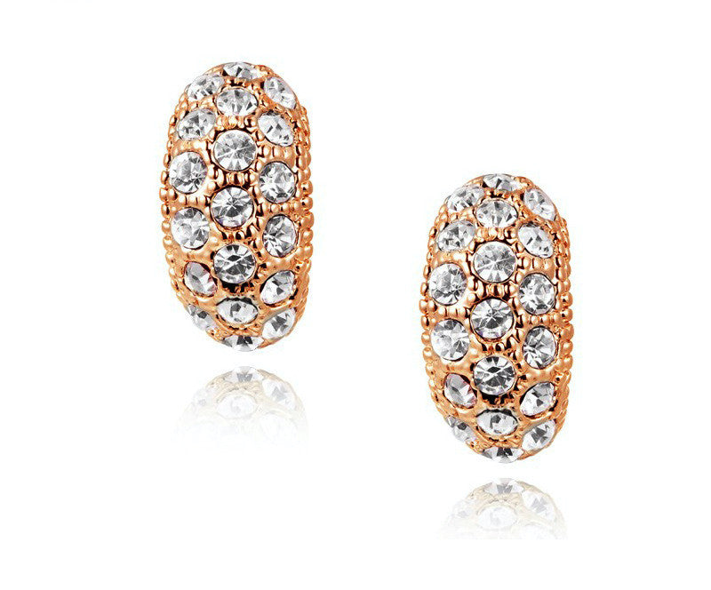 18K Rose Gold Plated Rylie Earrings with Simulated Diamond
