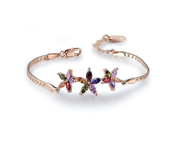 18K Rose Gold Plated Sadie Bracelet with Simulated Diamond