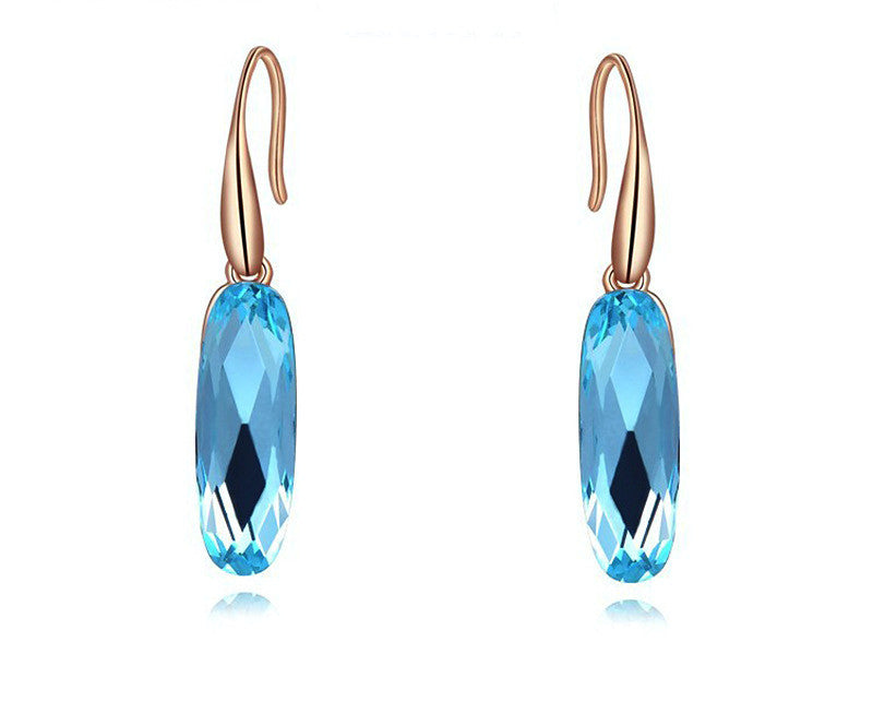18K Rose Gold Plated Sadie Earrings with Simulated Diamond