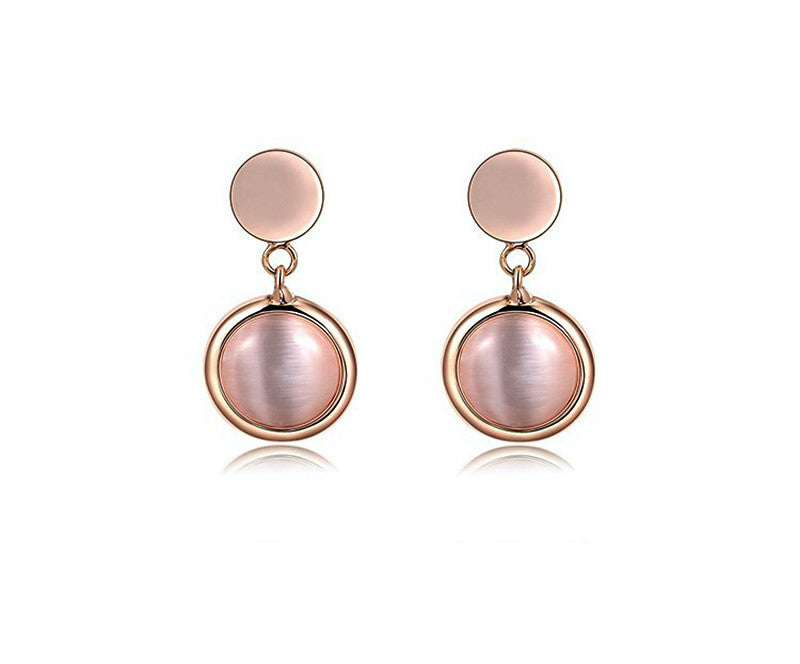 18K Rose Gold Plated Selena Earrings with Simulated Diamond