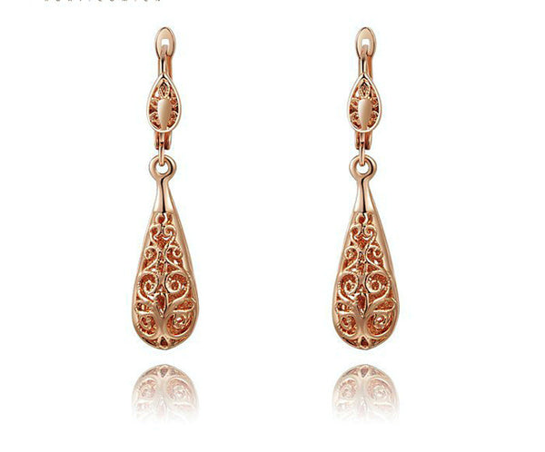 18K Rose Gold Plated Sophia Earrings with Simulated Diamond