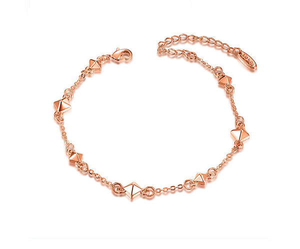 18K Rose Gold Plated Sydney Bracelet with Simulated Diamond