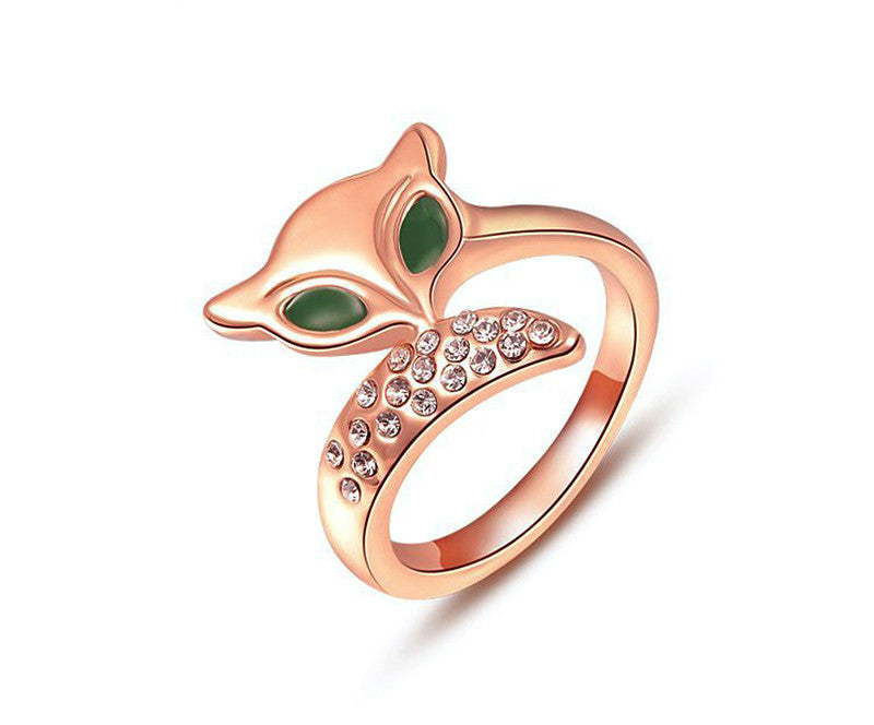 18K Rose Gold Plated Talia Ring with Simulated Diamond