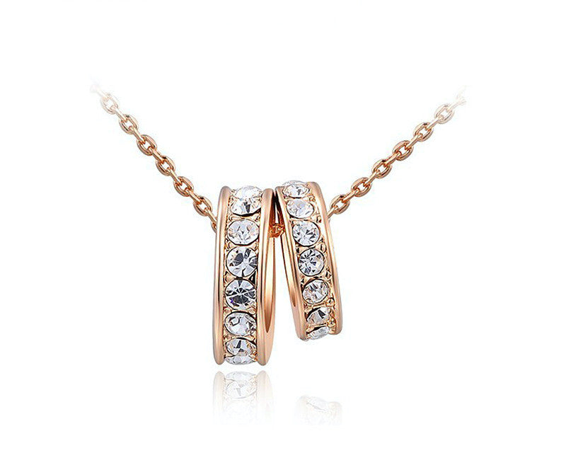18K Rose Gold Plated Taylor Necklace with Simulated Diamond