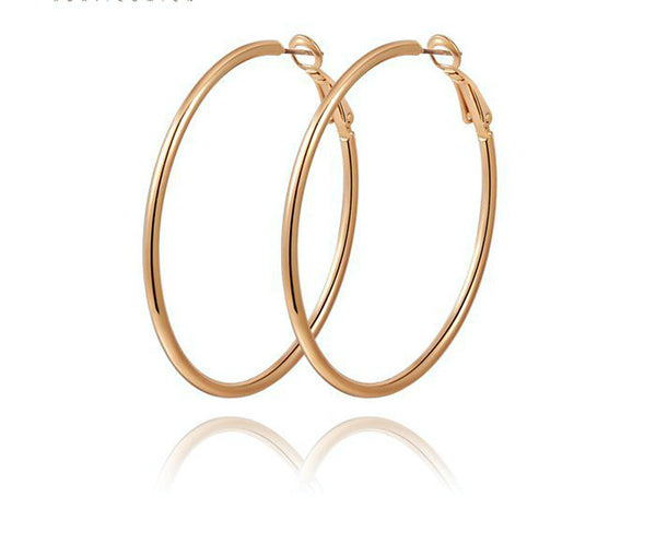 18K Rose Gold Plated Vivian Earrings with Simulated Diamond