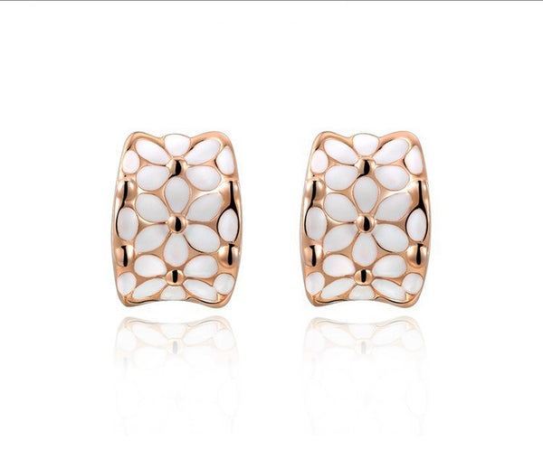 18K Rose Gold Plated Zoey Earrings with Simulated Diamond