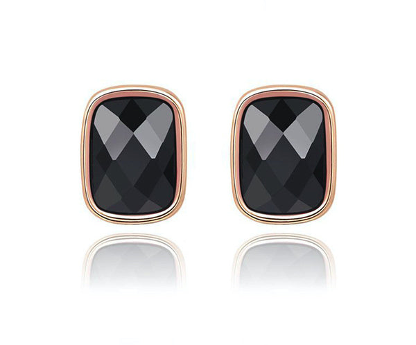 18K Rose Gold Plated Zuri Earrings with Simulated Diamond