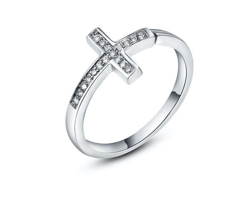 Platinum Plated Adalynn Ring with Simulated Diamond